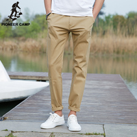 Pioneer Camp Summer Classic Solid Brand Clothing Fitness Pants Men Casual Pantalon Homme Cotton Pencil Pants