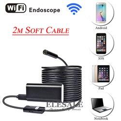 HD 720P 8mm 2M bezprzewodowy Wifi Android iOS endoskop kamera wodoodporna miękki kabel kontroli kamera boroskopu do samochodu do naprawy