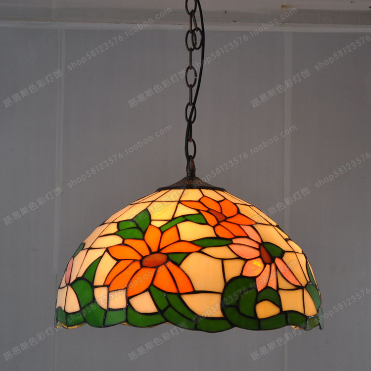 Sunflower Glass Chandeliers Factory Direct 40CM American Pastoral Countryside Lighting Living Room Kitchen With Dining Table