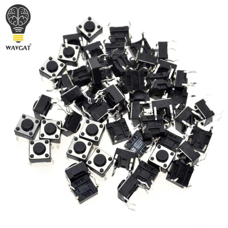 2017 50 sztuk/partia 6x6x4.3mm 4pin G89 dotykowy takt Push Button mikroprzełącznik bezpośrednie podłączenie do w Self-reset Dip miedzi darmowa wysyłka