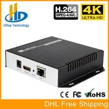 H.264 4 K HDMI IP Encoder IPTV Encoder Para IPTV Streaming de Vídeo E Streaming De Transmissão Ao Vivo, apoio RTP HTTP UDP RTMP RTSP HLS