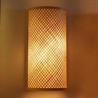 Japanese style wall lamp garden bedroom bracket semicircle creative hotel corridor Southeast Asia bamboo wall fitting ZA627ZL119
