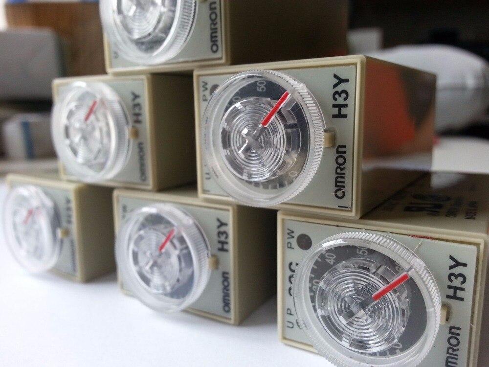 10pcs Delay Timer Time Relay 2 60 MINUTE H3Y 2 DPDT 8Pins DC12V DC24V AC110 120V