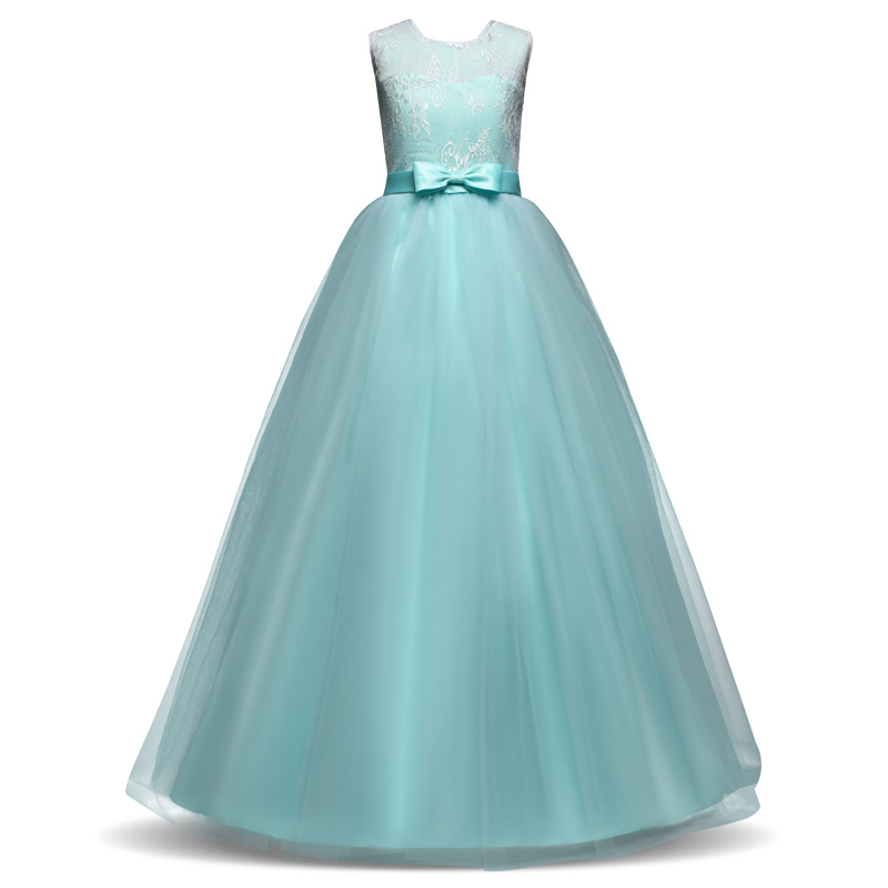 Children Gowns For Wedding: Girls Party Wear Dress Kids 2018 Flower Lace Children