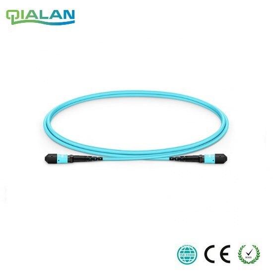 100 m 12 cores MPO Fiber Patch Kabel OM3 UPC jumper Vrouwelijke aan Vrouwelijke Patch Cord multimode Trunk Kabel, type A Type B Type C