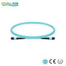 100 m 12 rdzeni włókien MPO kabel krosowy OM3 UPC jumper kobieta do kobiet kabel wielomodowy kabel dalekosiężny, typ A typ B typu C
