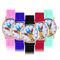 Colorful Cute Animal Giraffe Pattern Wrist Watch Women Female Silicone Band Fashion Watches New Relogio feminino
