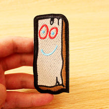 Wood Brick Cartoon Patch Iron On Patches Clothes/Stripes For Clothing Embroidered Anime DIY Sew Apparel Decor