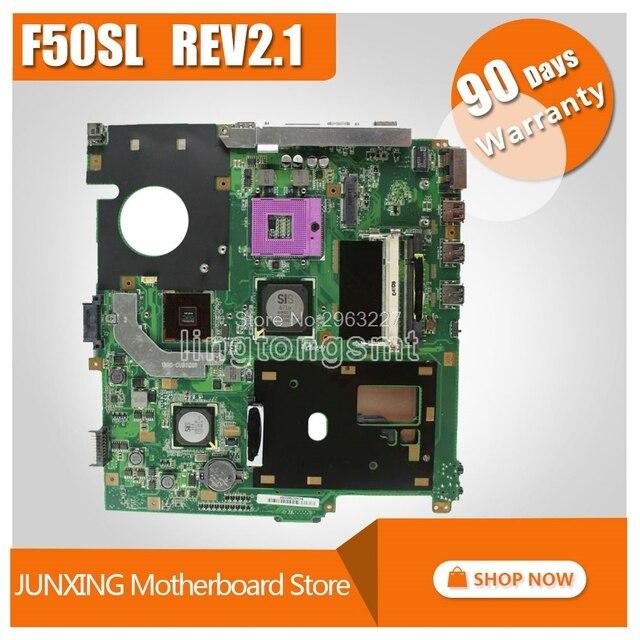 F50SL материнская плата REV: 2,1 Для ASUS X61S F50S материнская плата для ноутбука F50SL материнская плата F50SL Материнская плата Тест 100% ОК