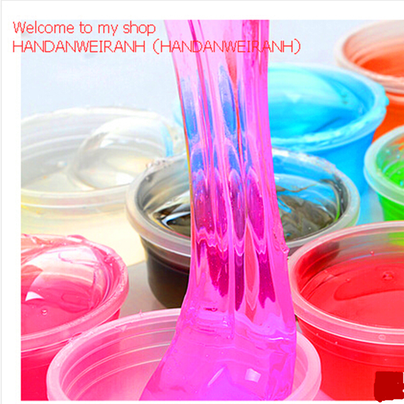 1piece lots 12 colors can be non toxic blowing bubbles crystal mud clay can draw slime