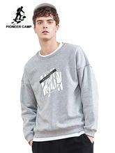 Pioneer camp nowa zimowa bluza polarowa bluzy męskie marki odzież casual bluza z nadrukiem jakości bawełny dres AWY806084