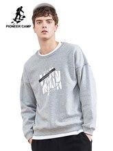 Pioneer kamp nieuwe winter fleece sweatshirt truien mannen merk kleding casual print sweatshirt kwaliteit katoen trainingspak AWY806084