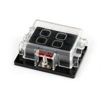 WSFS Hot Fuse Holder Box Case Plug For Car Autos 6 Places