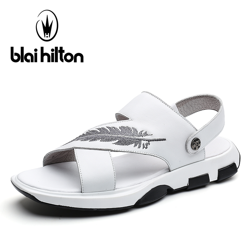 Blai Hilton 2018 New Fashion Summer Sandals Outdoor leisure beach shoes Breathable/Comfortable Buckle Strap men shoes Sandals