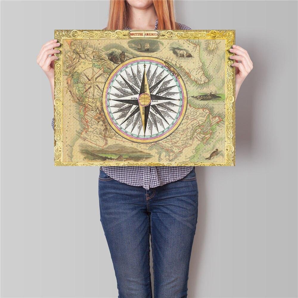 ᐊVintage Kraft Paper bar cafe Decoration Zodiac World Map antique ...