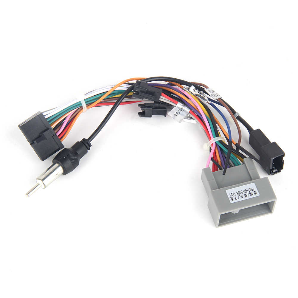 dasaita dyx016 car radio audio wiring harness adapter with radio antenna adapter for honda city fit [ 1000 x 1000 Pixel ]