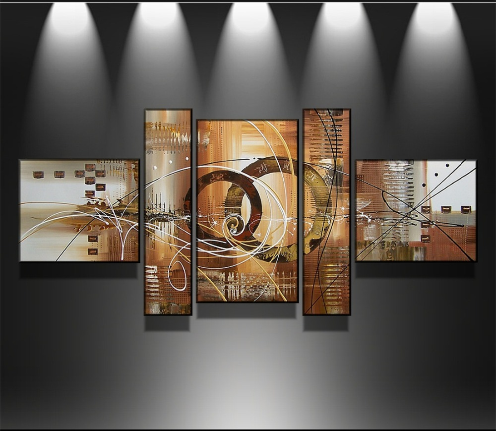 100% Hand Painted 5 Piece Set Abstract Oil Painting On Canvas Home Wall Decoration Unframed Modern Art Picture for Living Room