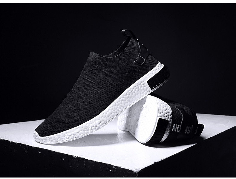 HTB1UPdtzgmTBuNjy1Xbq6yMrVXa1 Thin Shoes For Summer White Shoes Men Sneakers Teen Shoes Without Lace Trend 2019 New Feel Socks Shoes tenis masculino chaussure