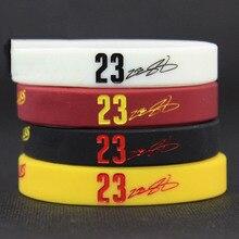 Mens Silicone Basketball Bracelets Lebron James Sport Energy Balance Wristband Power Bangle