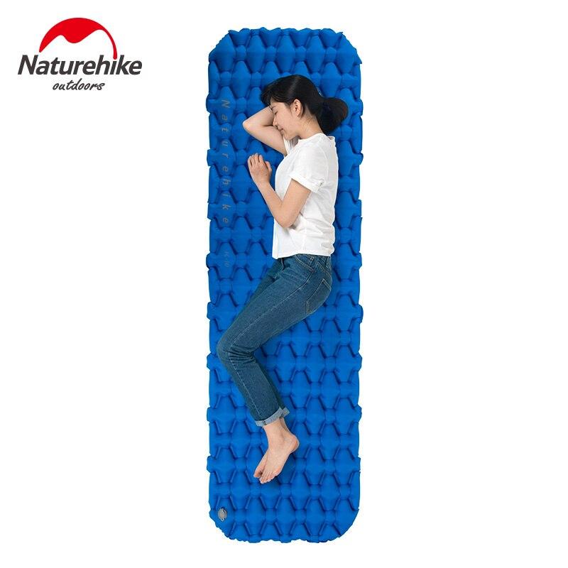 Naturehike надувной коврик для кемпинга, коврик для сна с подушкой, воздушная подушка, новый ручной пресс, надувной матрас для лагеря, для походов...
