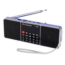 L-288 Mini Portable Rechargeable Stéréo FM Radio Haut-Parleur LCD Écran Soutien TF Carte USB Disque MP3 Lecteur de Musique Haut-Parleur