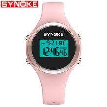 SYNOKE Women Smart Sport Watch LED Digital Fashion Waterproof Lady Fitness Smartwatch Swimming Diving Hand Clock Montre Femme