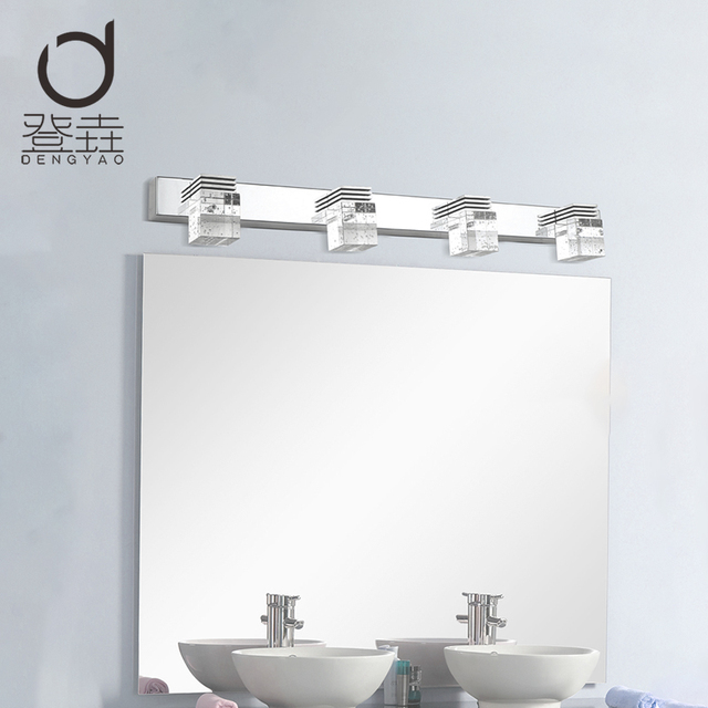 Dengyao Modern K9 Crystal Led Bathroom Make Up Mirror Light Cool White Wall