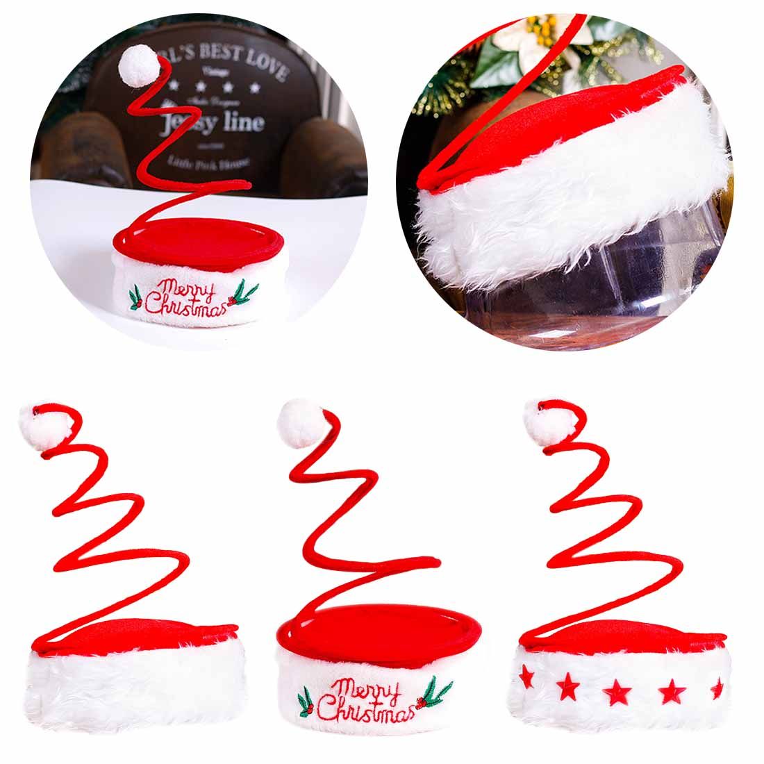 Costumes & Accessories Novelty & Special Use Popular Christmas Decoration Adult Christmas Hat Five Star Lamp Cap Spring Hat Embroidered Hat Christmas Products Wild Hat Exquisite Craftsmanship;