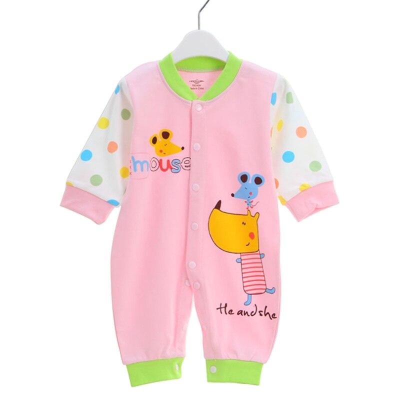 95a0a6af1 Ropa de bebé 6 12 meses niño niña pelele para Niños Infantes algodón mono  dibujos animados ratón estilo lindo niños pequeños vestido en Monos de Mamá y  bebé ...