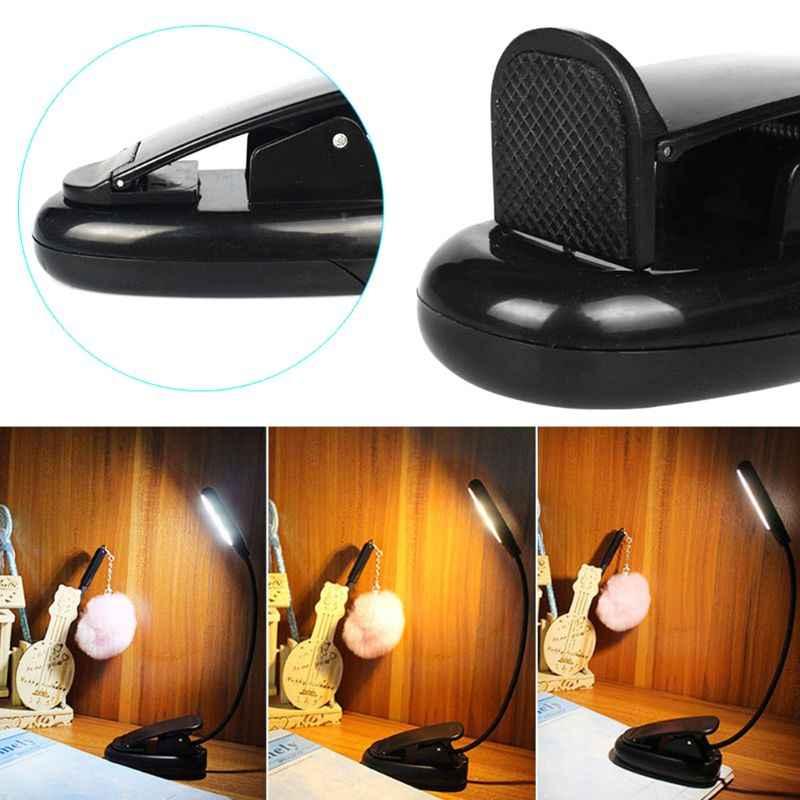 قابلة للشحن 5 LED كتاب ضوء سهلة كليب على مصباح السرير مصابيح للقراءة مرنة قابل للتعديل الذراع الطويلة الأيدي الحرة الكبار الاطفال