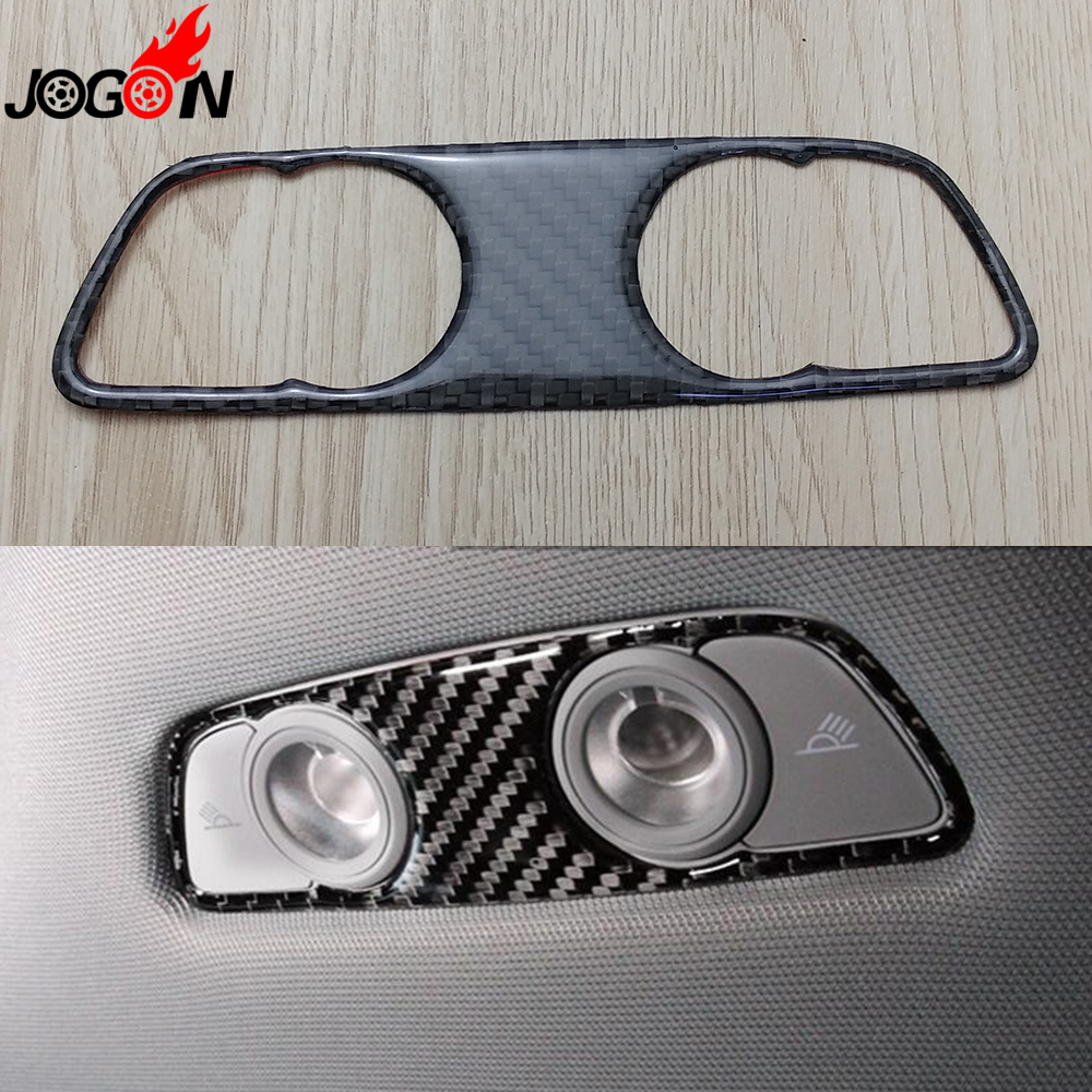 For Audi A4 B9 8W 2017 Car Interior Roof Top Dome Reading Light Lamp Cover Trim Carbon F ...
