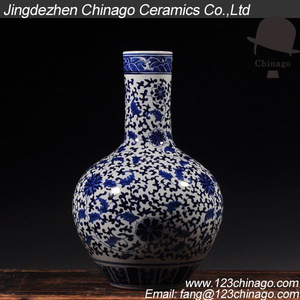A2115 Handmade Antique Blue And White Furnishing Articles Sitting