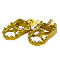 57mm Wide Foot Pegs Footrests For Kawasaki KX250 2005 2006 2007 KLX450R 2008 2009 Gold