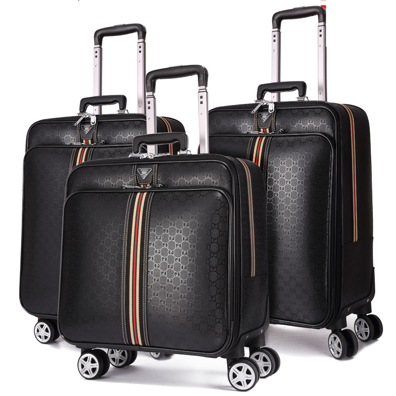 Classic Luggage,Personalized Trolley Suitcase Bag,Universal Wheel Travel Password Box,16