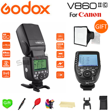 купить Paypal Accpect, Godox Flash V860II-C Li-on Battery E-TTL HSS 1/8000s Flash Speedlite + Xpro-C for Canon 60D/650D/80D Cameras дешево