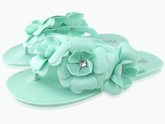 60543db664bdbd womens summer melissa jelly homme sandale flat shoes ladies thong sandals  flip flops sandalias flower beach slippers hot 2015-in Women s Sandals from  Shoes ...
