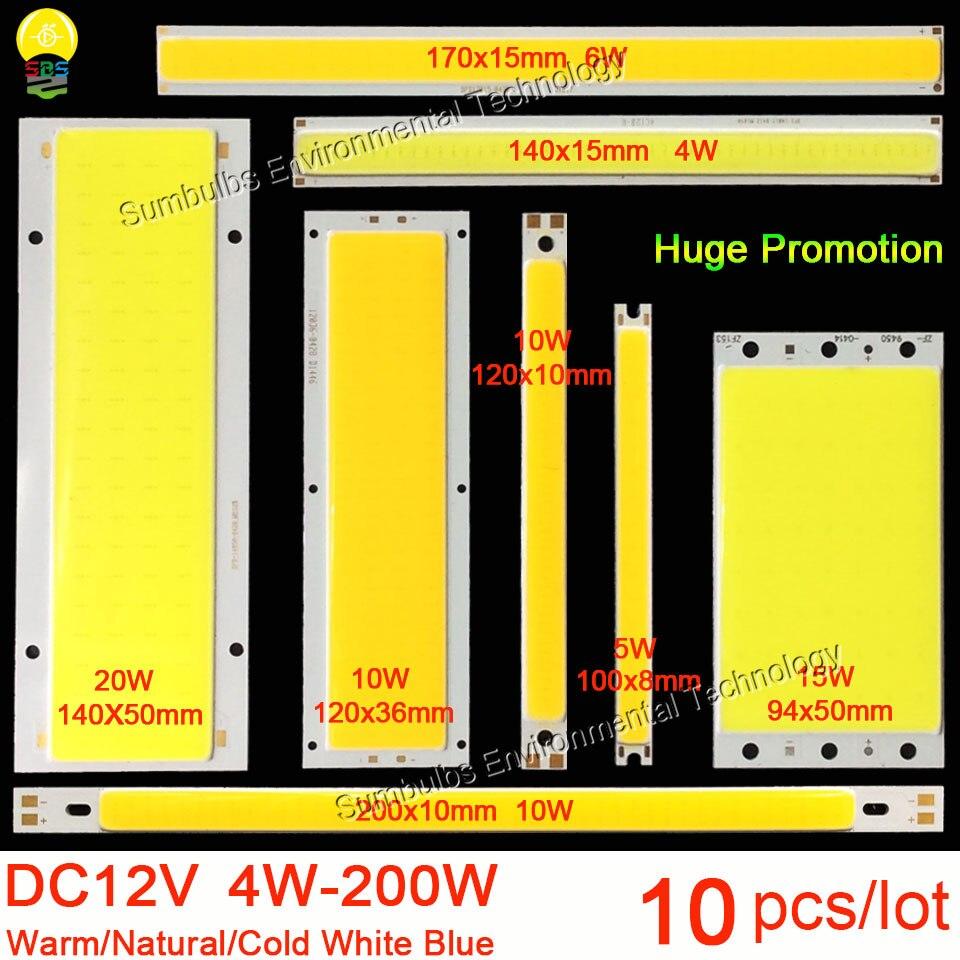 10pcs lot 12V COB font b LED b font font b Strip b font Light Source