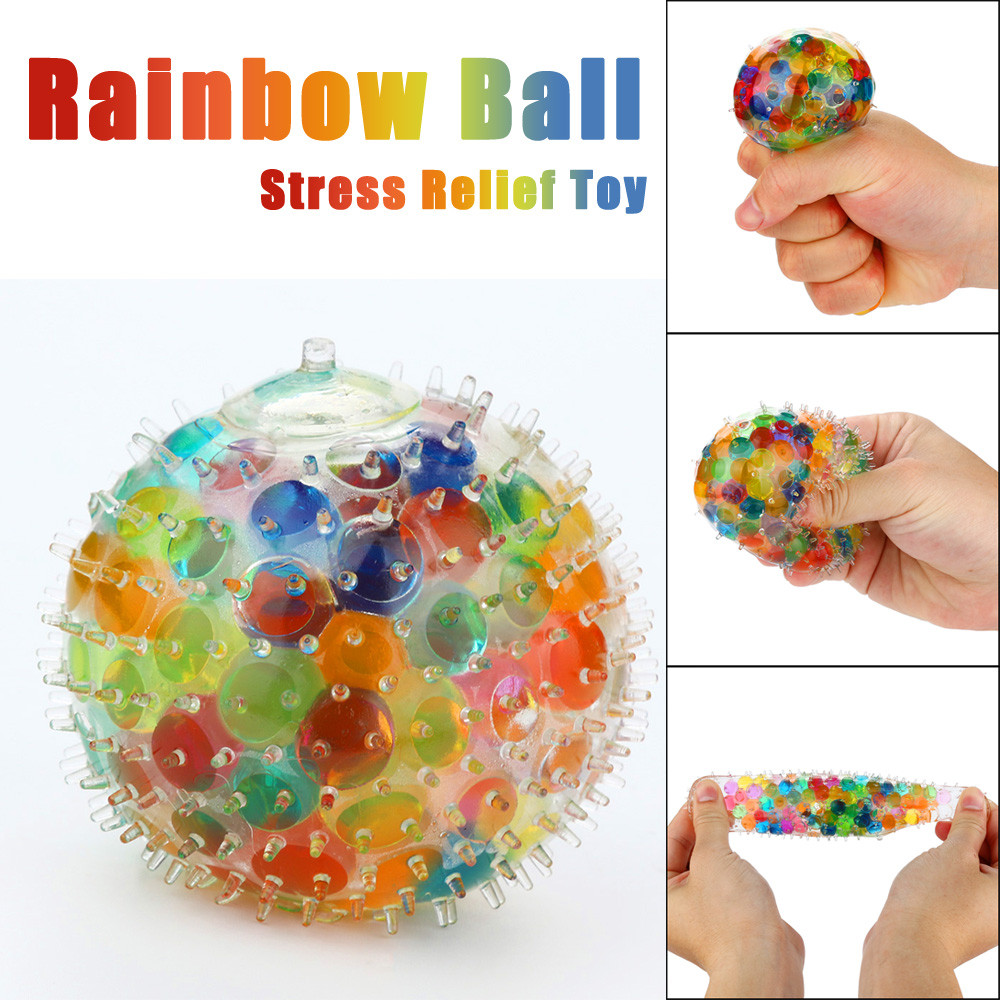 Welding & Soldering Supplies New Attractive Spongy Rainbow Ball Puffer Squeeze Toys Squishy Anti Stress Fun Funny Gadget Interesting Toys Kid Gift Decoration