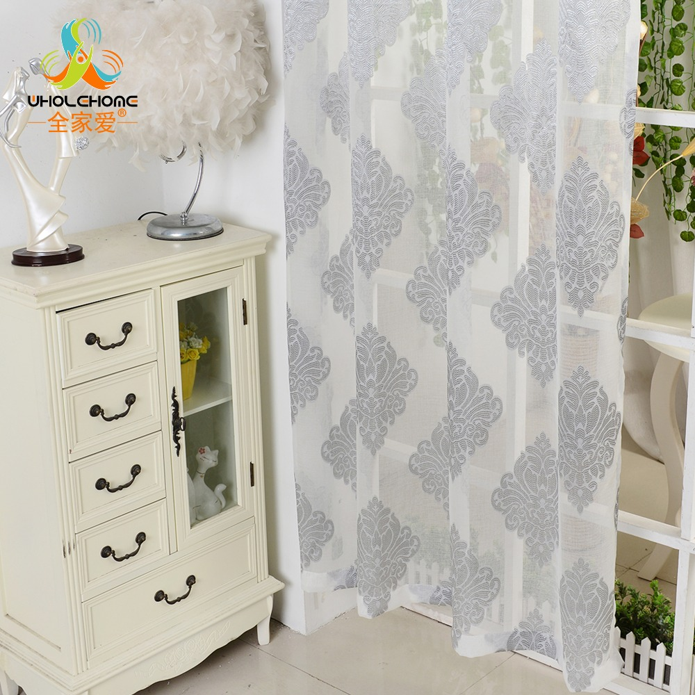 Window curtain grey luxury tulle voile fabric for curtains for Living room curtain fabric