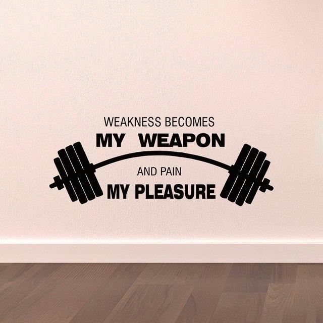 Naklejki ścienne Cytaty Sportowe Słabość Staje Się Moja Broń I Ból
