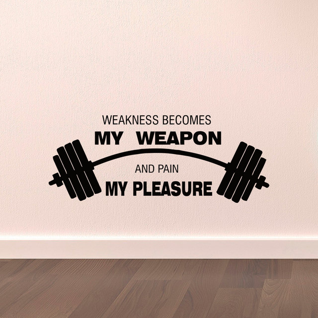 Sports Quotes Wall Decals Weakness Becomes My Weapon And Pain My Best Sports Quotes
