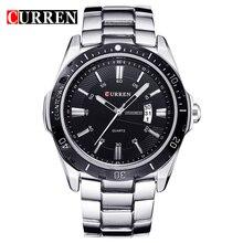 Curren 8110 Marca de Lujo de Hombre Relojes de Pulsera Reloj de Cuarzo de Los Hombres de Acero Completo Fecha de Visita del Calendario Clásico Reloj Relogios Masculino