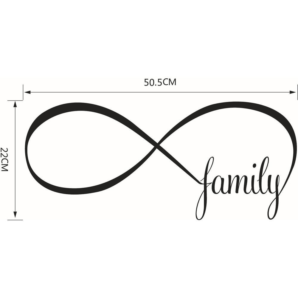 Diy Decor 2250cm Bedroom Wall Stickers Decor Infinity Symbol Word
