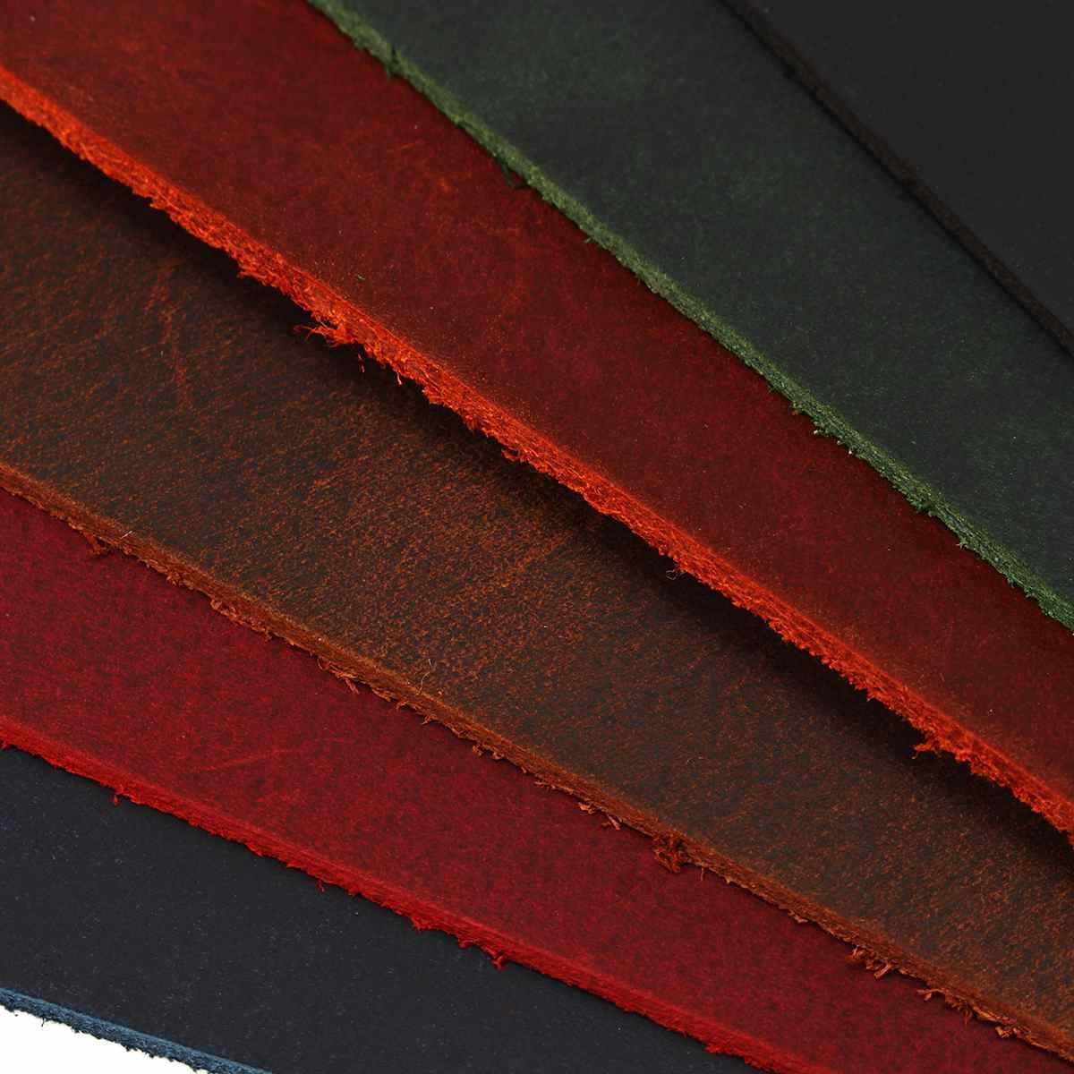 Multicolors Inek Derisi Vintage 1.8-2mm Kalın Gizlemek Dana deri cüzdan Çantası Dizüstü El Sanatları DIY Parça Malzeme Inek Derisi Deri