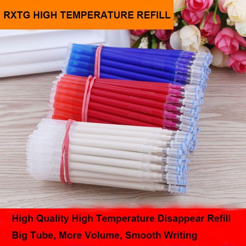 100 pz Ruixiang Ad Alta Temperatura Scomparire Ricarica Tessuto + PU Panno Fabbrica Professionale Da Stiro Riscaldamento Scomparire Refill 3 Colori