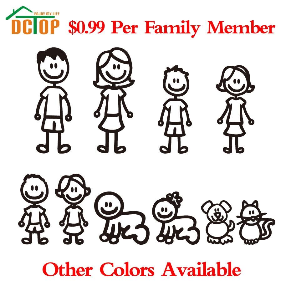 Design my car sticker - Custom Family Member Viny Decal Car Stick Figure Diy Adhesive Window Car Stickers Waterproof Auto Sticker