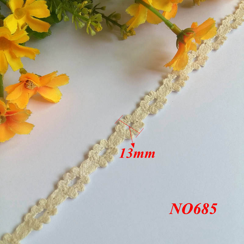 2 Yard lot 13mm to 55mm High quality Cotton Lace Edge Theory Sweater Side Skirt Full Cotton Curtain Sofa Diy Cotton Lace in Lace from Home Garden