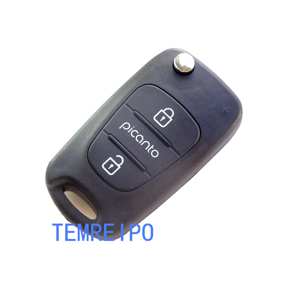 3 Buttons Keyless Car Key Shell Flip Key Remote Fob Case Shell Cover fit for KIA