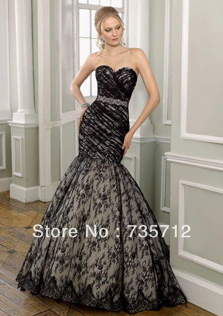 Best Ing Sweetheart Top Corset Mermaid Lace Beaded Belt Black Wedding Dress