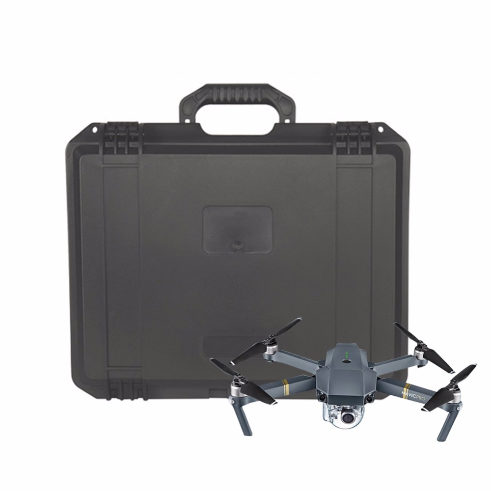 Mavic Waterproof Transport Case Hard Shell Box Case Carry Case Storage Bag Shockproof Box for DJI Mavic Drone Accessories 2017waterproof hardshell handbag carry box pouch cover bag case for dji spark quadcopter drone 2 batteries and other accessories